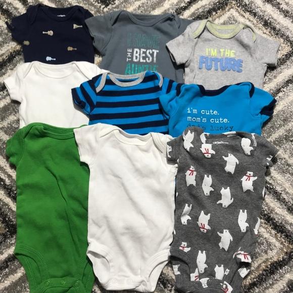 330e77f4a Carter's One Pieces | 9 Carters Newborn Baby Boy Onesies | Poshmark